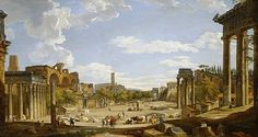 View Of The Roman Forum Painting by Giovanni Paolo Panini Giovanni Paolo Panini, Roman Currency, Rome Painting, Francesco Guardi, Roman Forum, Renaissance Paintings, Italian Art, Grand Tour, Ancient Rome