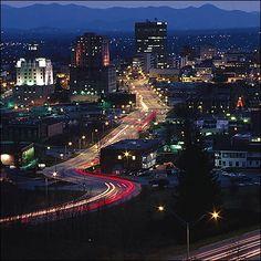 Asheville, NC, Downtown.