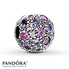 Violet, pink and clear cubic zirconias sparkle all over the surface of this Cosmic Stars clip from the PANDORA Mother's Day 2014 collection. Style # 791286CFPMX.