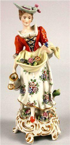 vintage lady figurine S