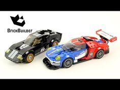 Lego Speed Champions 75881 2016 Ford GT & 1966 Ford GT40 - Lego Speed build - YouTube