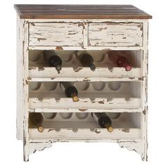 WANT!!! Perfect for the dining room!! Found it at Wayfair - Elise 18 Bottle Wine Cabinet in White