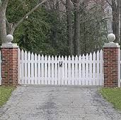 Image result for picket fence double gate