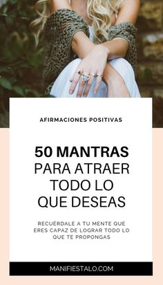 50 mantras para atraer todo lo que deseas. #superaciónpersonal #motivación #mente #autoayuda #psicologia #inspiración #bienestar #desarrollopersonal #manifestación #leydeatracción #pensamietos #positivo #positivismo Yoga Mantras, Quotes Thoughts, Life Quotes Love, Positive Mind, Positive Vibes, Work Life Balance, Clara Berry, Daily Mantra, Spiritual Messages
