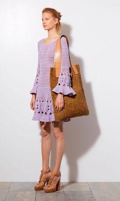 Vestido de crochê - Michael Kors Resort 2015   Moda em Crochê