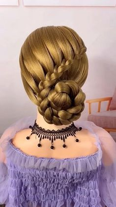 Hairdo For Long Hair, Bun Hairstyles For Long Hair, Headband Hairstyles, Pretty Hairstyles, Girl Hairstyles, Braided Hairstyles, Hair Style Vedio, Easy Chignon, Front Hair Styles