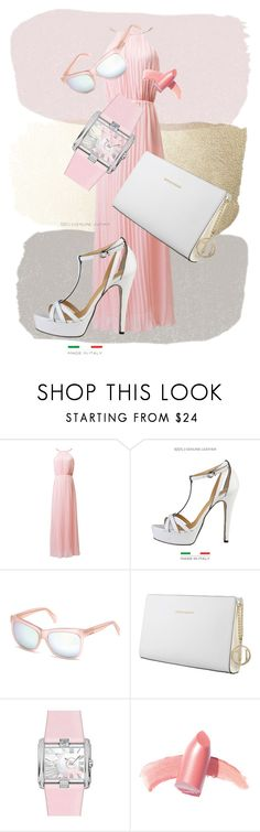 """""""Pinky"""" by thenorafashion ❤ liked on Polyvore featuring Trussardi, Cerruti and Elizabeth Arden"""