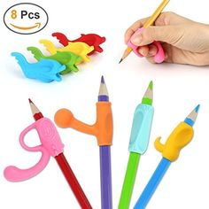 Writing Grip Trainer Posture Correction for Kids Preschoolers Children Adults Special Needs for Lefties or Righties Pencil Grips Silicone Ergonomic Writing Claw Aid 3PCS