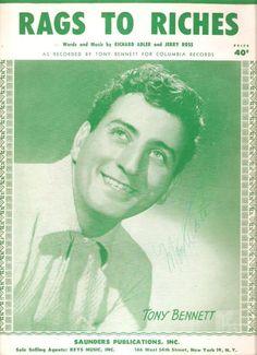 1954 Tony Bennett sheet music