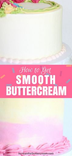 How to get smooth buttercream is a question I'm asked a lot. I've gathered my best tips and tricks here to help you get the results you want.