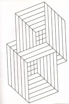 Illusion optic squares - Optical Illusions (Op Art) Coloring Pages for Adults - Just Color Illusion Kunst, Illusion Drawings, Optical Illusions Drawings, Illusions Mind, Free Coloring Pages, Printable Coloring Pages, Coloring Sheets, Op Art