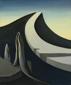 Kay Sage (American, 1898-1963), I Walk Without Echo, 1940. Oil on canvas, 25 ¼ x 21 1/8 in.