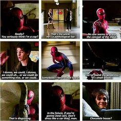 The Amazing Spiderman movie quotes. I thought that Andrew Garfield made a good spidey. Marvel Dc Comics, Marvel Heroes, Marvel Avengers, Spiderman Marvel, Ms Marvel, Marvel Funny, Captain Marvel, Spiderman Movie, Amazing Spiderman