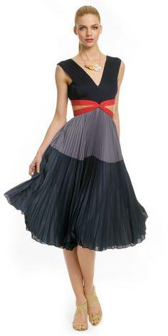 BCBGMAXAZRIA School Girl Gone Bad Dress  - women's fashion / blue and grey clothing apparel (rent the runway)