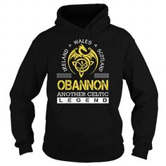 Awesome Tee OBANNON Legend - OBANNON Last Name, Surname T-Shirt T shirts