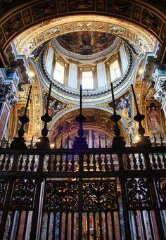 Cúpula de la Capilla Borghese en la Basílica Santa María la Mayor en Roma