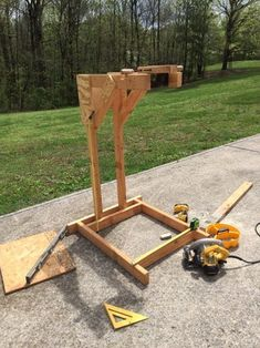 Homemade Wooden Bicycle Stand With Dual Mounting: 5 Steps (with Pictures) Homemade Bike Stand, Bike Stand Diy, Bike Repair Stand, Bicycle Stand, Woodworking Projects Diy, Diy Wood Projects, Wooden Bicycle, Fixed Bike, Bicycle Maintenance