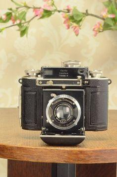 SUPERB! 1937 Certo Dollina II, 35mm coupled rangefinder camera, CLA'd #Certo
