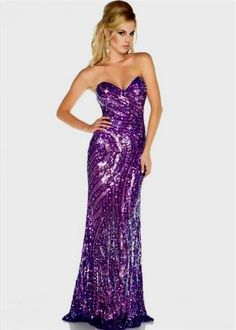 78cd027487c Sparkly Purple Strapless Sweetheart Neckline Sequin Prom Dress - Prom  Dresses - Mac Duggal Omg I just died this is amazing