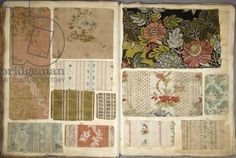 Page from a French cloth sample book, late 18th century/ Deutsches Historisches Museum, Berlin