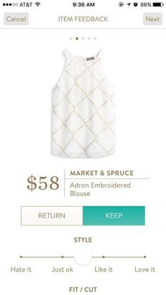Market & Spruce Adron Embroidered Blose