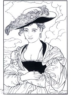 Woman with Hat, by Rubens: This site makes you sit through a short ad before loading the coloring page.