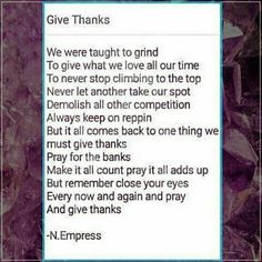 The Poem Give Thanks above was Inspired by the image of Larry Bourgeois (can be found in the next post)