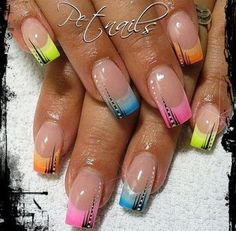Nailart french sommer