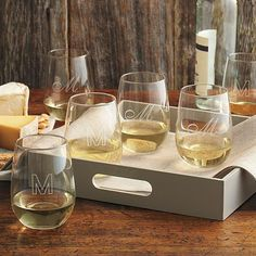 stemless white wine glass set: too cute not to be somebody's gift!