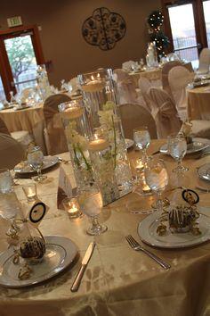 Wedding centerpiece & table scape