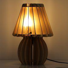 Originálne stolové drevené svietidlo z kolekcie iWood - MUSHROOM2