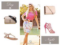 Dica de bolsa e sapato para usar de dia e noite com o lindo look Titanium Jeans! ^^