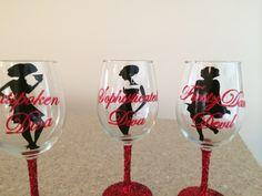 Bridesmaid glasses using vinyl