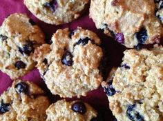 BLUEBERRY QUINOA MUFFINS ALA YOGA JOURNAL- MODIFIED. SUB REG FOR RICE FLOWER