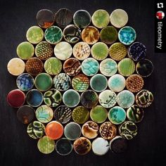 Swoon.  Enough said.  #Repost @tileometry with @repostapp.  Shining the spotlight on this #TileTuesday with a look at #tile #artisan @guymitchelldesign. Pictured is BRERA Penny Round Tiles by Guy Mitchell Design. Full interview on the #Tileometry blog (link in profile). // #art #ceramics #ceramicart #design #decor #handmade #inspiration #luxury #mosaic  #pattern #stylish #texture #tilestyle #tilelove #tiledesign #tileaddiction #wall #walltiles by kobrinworks