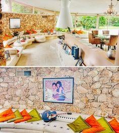 Interior of Elvis' Palm Springs home