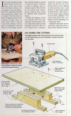 #2651 Biscuit Joiner Techniques - Joinery Woodworking Projects For Kids, Woodworking Jobs, Intarsia Woodworking, Woodworking Workshop, Woodworking Crafts, Wood Projects, Woodworking Techniques, Woodworking Essentials, Biscuit Joiner