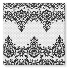 Find Black Damask Vintage Floral Pattern Vector stock images in HD and millions of other royalty-free stock photos, illustrations and vectors in the Shutterstock collection. Thousands of new, high-quality pictures added every day. Floral Pattern Vector, Motif Floral, Floral Border, Border Embroidery Designs, Embroidery Patterns, Pattern Art, Print Patterns, Henna Stencils, Damask Stencil