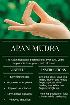 How To Do The Apan Mudra Properly To Detoxify And Energise Chakra Meditation, Mindfulness Meditation, Kundalini Yoga, Meditation Music, Qi Gong, Pranayama, Hand Mudras, Les Chakras, Yoga Mantras