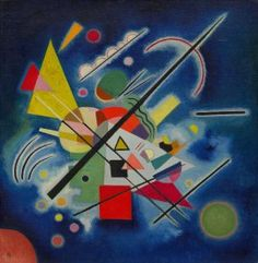 Vasily Kandinsky, Blue Painting, January 1924. Oil on canvas, mounted on board, 19 7/8 x 19 1/2 inches (50.6 x 49.5 cm)