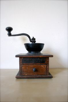 Antique Coffee Grinder / Late 1800's by KikuVintageBoutique