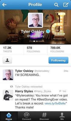 When Harry retweeted Tyler :)