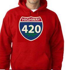 hoodies: highway 420 funny hoodie sweaters shirt by Tshirtsdepo