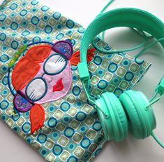 Kopfhörer-Tasche nähen, luzia pimpinella, farbenmix