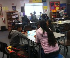 Literacy Centers in the classroom with upper elementary/middle school students