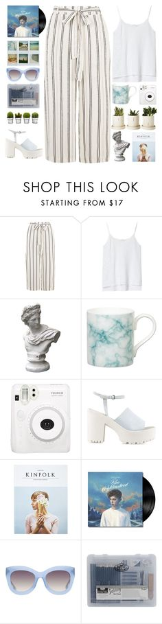 """""""I know I'll fall in love with you, baby."""" by queen-of-clarity ❤ liked on Polyvore featuring Zara, Market, Gary Birks Design, Fuji, Nly Shoes, Kinfolk, Polaroid, Alice + Olivia and Billabong"""