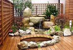 Rock Garden Ideas for Japanese Design : Small Japanese Garden Design Ideas Contemporary Garden Design, Pond Design, Modern Garden Design, Landscape Design, Small Japanese Garden, Japanese Garden Design, Japanese Gardens, Japanese Garden Backyard, Easy Garden