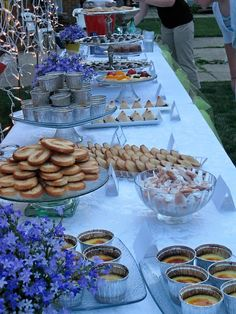 French dessert buffet bridal shower