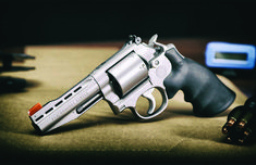 Given its less expensive than custom work by a gunsmith and has better price retention, a Smith & Wesson Performance Center gun is worth every penny. Smith And Wesson Revolvers, Smith Wesson, Best Handguns, Cool Guns, Firearms, Hand Guns, Knives, Weapons, Mens Fashion