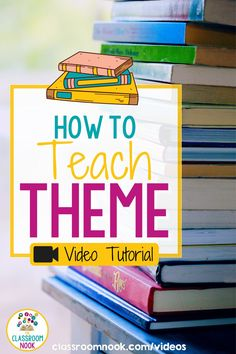 Struggling to teach theme to your elementary grade students? Then you need to watch this how-to video now! It can be challenging for elementary students to understand theme in literature. The strategy discussed in this video helps to give students a concrete understanding of what theme is and how to identify it in literature. Teacher, you need to watch this theme instructional video today. Check it out here! New Vocabulary Words, Vocabulary Practice, English Language, Language Arts, Student Data Binders, Teacher Videos, Teaching Main Idea, Reading Comprehension Strategies, Third Grade Reading
